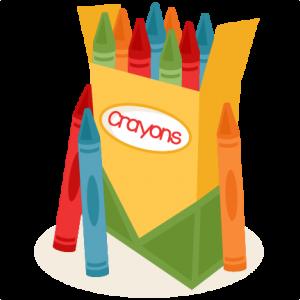 Box Of Crayons Miss Kate Cuttables Kids Scrapbook Crayon Scrapbook Images