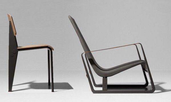 Prouvé RAW is a collaboration by Jean Prouvé x Vitra & G-STAR RAW