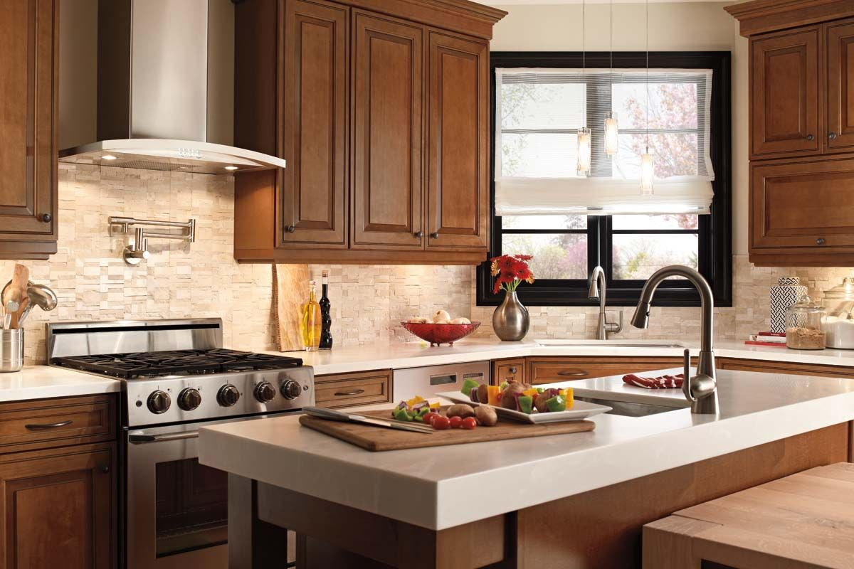 waypoint kitchen cabinets oak island living spaces style 760 in maple auburn glaze heart of