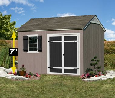 12 8 Shed With Extra Overhead Storage Space Burlington Yardline Sheds At Costco Pergola Plans Design Shed Shed Plans