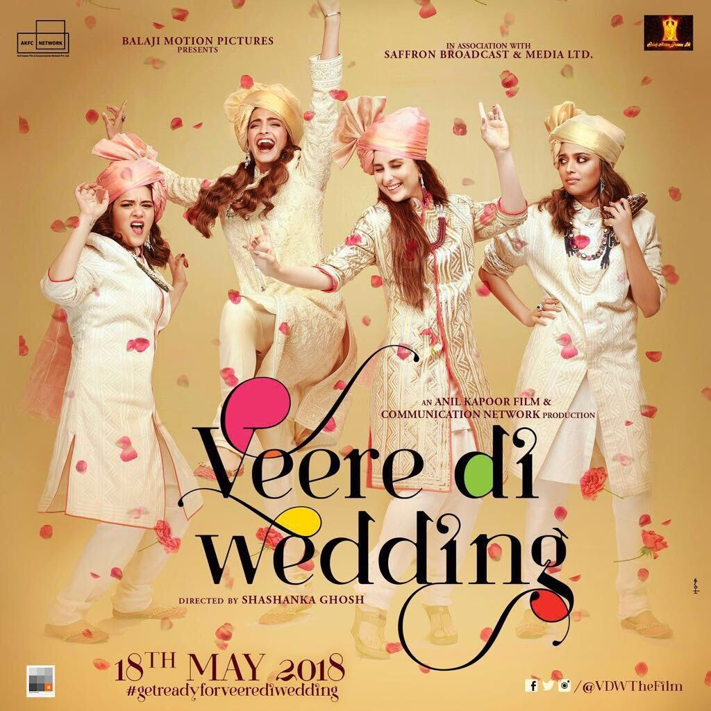 Veere Di Wedding First Poster High On Style Girl Power Social News Xyz Full Movies Online Free Veere Di Wedding Wedding Movies