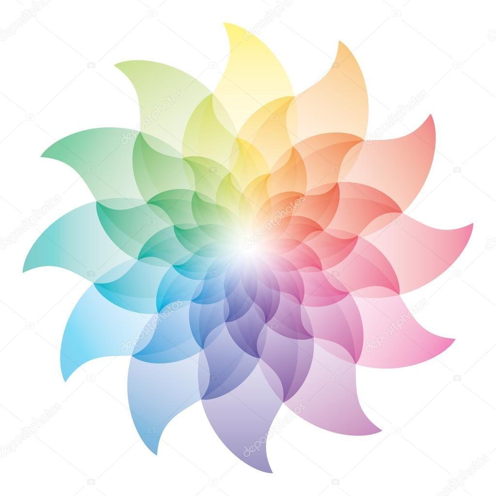 Best Beautiful Lotus Flower Color Wheel Icon Stock Illustration