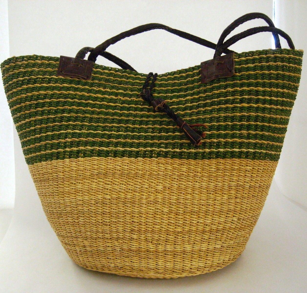 Alaffia - Handwoven  African  Shoulder Basket