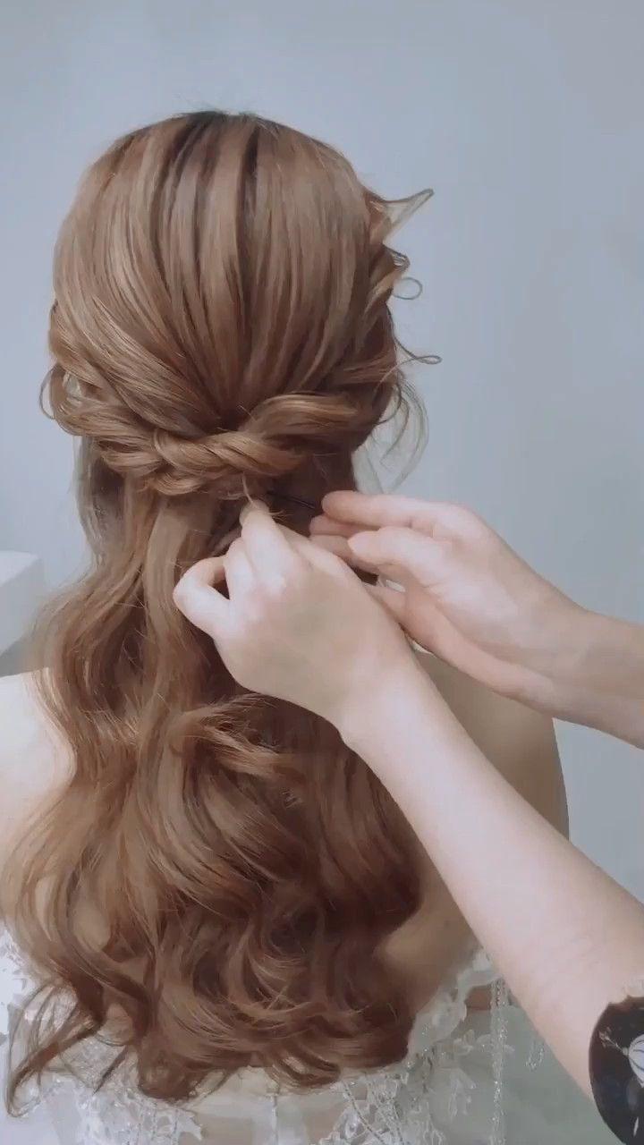 Bride Hair Design Idea Video In 2019 Long Hair Styles Hair Styles Bride Hairstyles