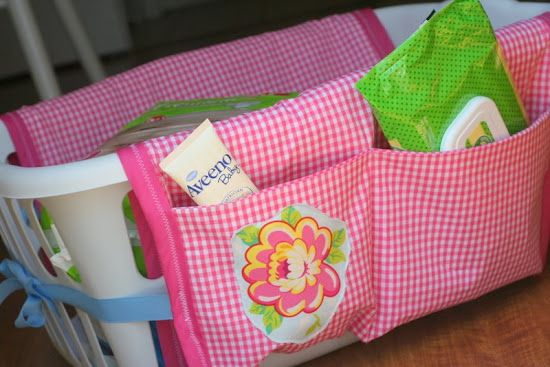 Laundry basket organizer - so many possibilities and so little work! Love this!!