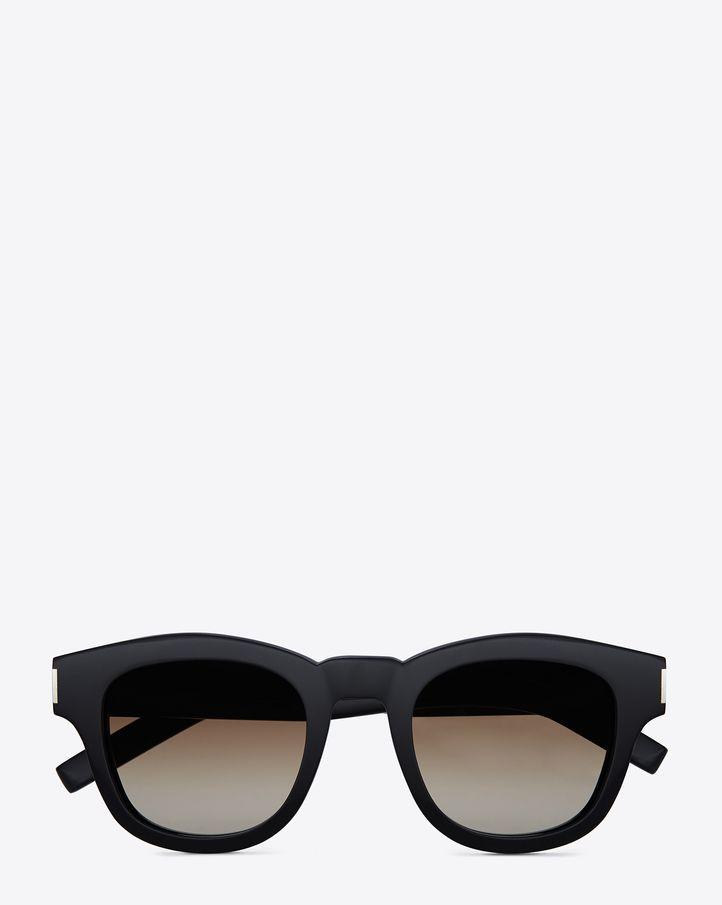 a0f26eabccd saintlaurent, Bold 2 Sunglasses in Black Acetate with Brown Gradient Lenses