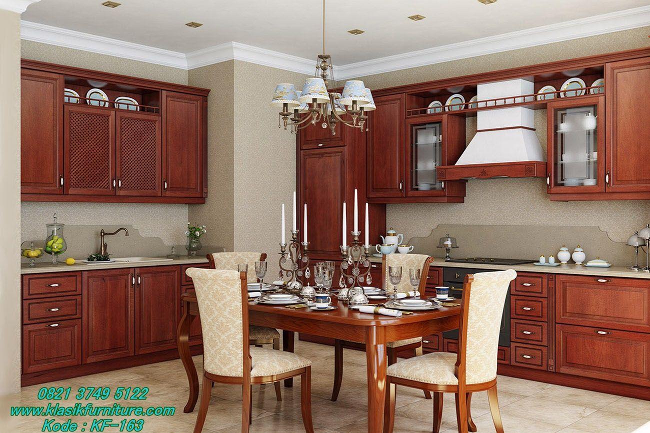 Desain Luxuryos Jati Klasik Set Kitchen Arpas Luxuryos