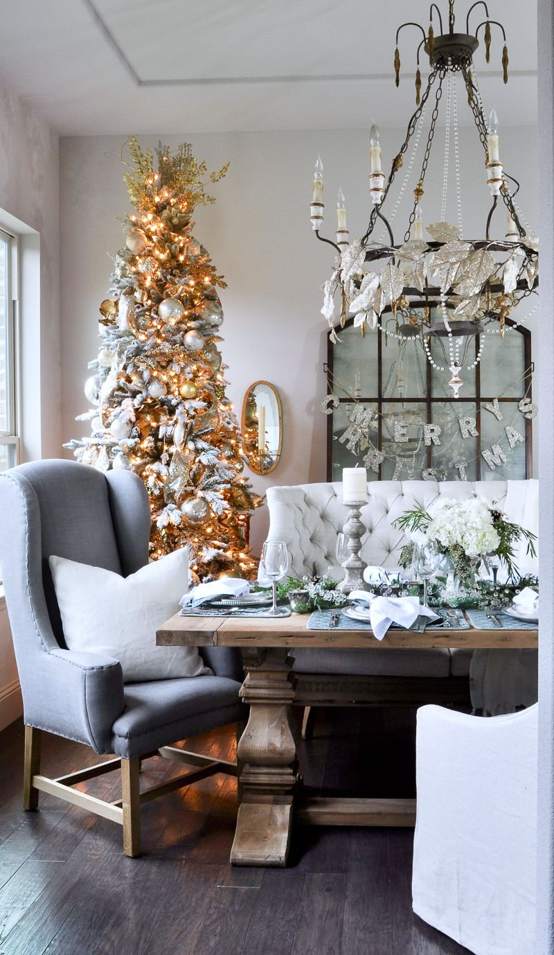 Classic Christmas Dining Room Tour  Room Tour Dining Room Table Extraordinary Christmas Dining Room 2018