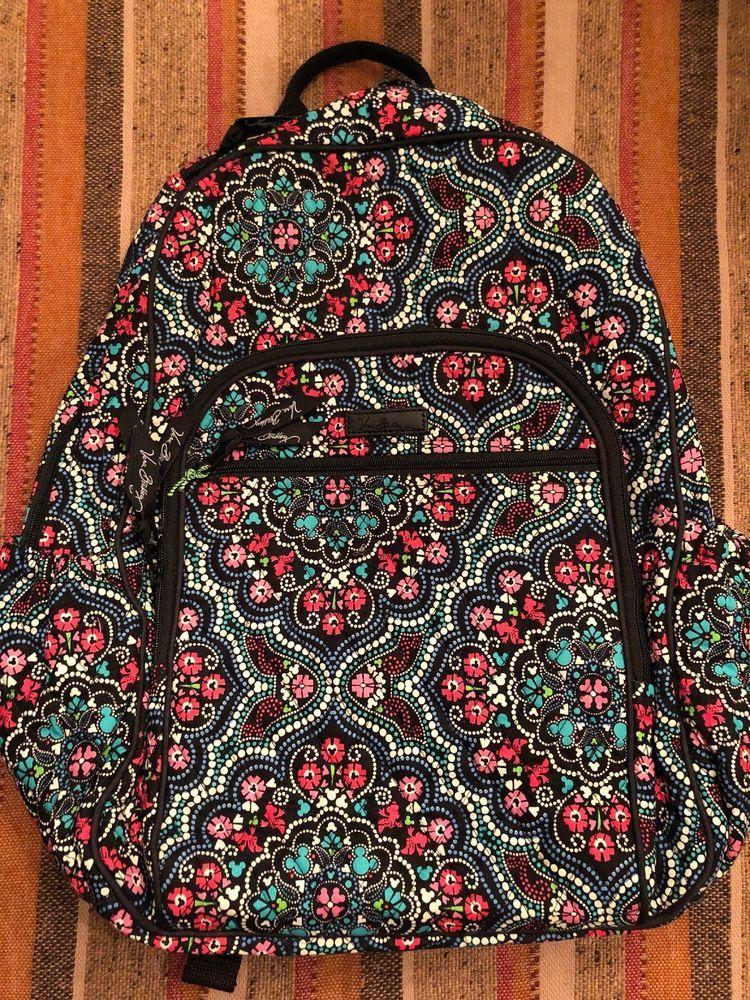 Vera Bradley Large Campus Backpack Disney Medallion Mickey Minnie Book Bag  NWT   75.00 End Date  Sunday Dec-16-2018 17 23 57 PST Buy It Now… dab72b9212