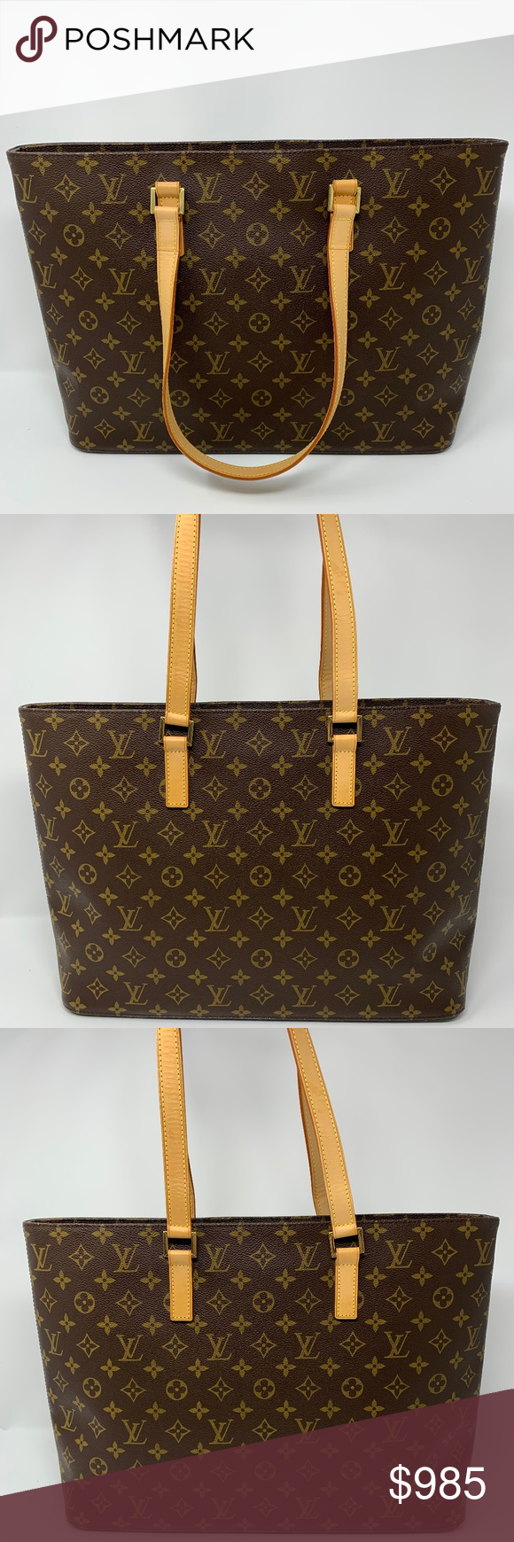 100% Auth Louis Vuitton Luco Tote Bag Pre-owned. Overall Condition is  slightly used in excellent condition looks like new. No rips or tears. c6f5a3ee7fb84