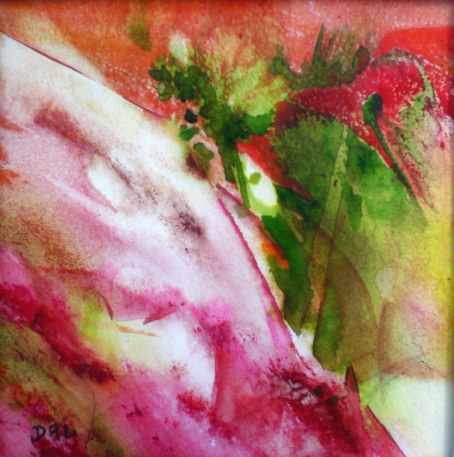 Falaise Rose Format 15x15 Art Peinture Peinture Abstraite