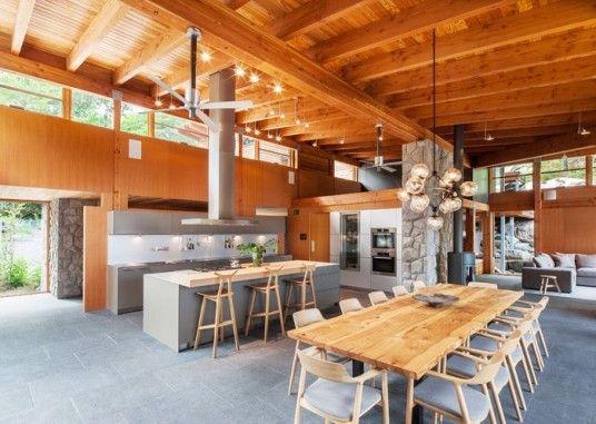 Muskoka Cottage Design Dining Area