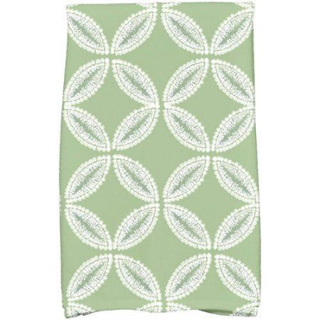 Simply Daisy 16 Inch X 25 Inch Tidepool Geometric Print Hand Towel Products Hand Towels Green Towels Kitchen Towels