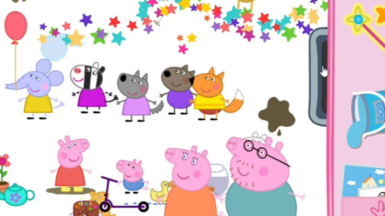 peppa pig peppa u0027s paintbox game movie free kid games pinterest