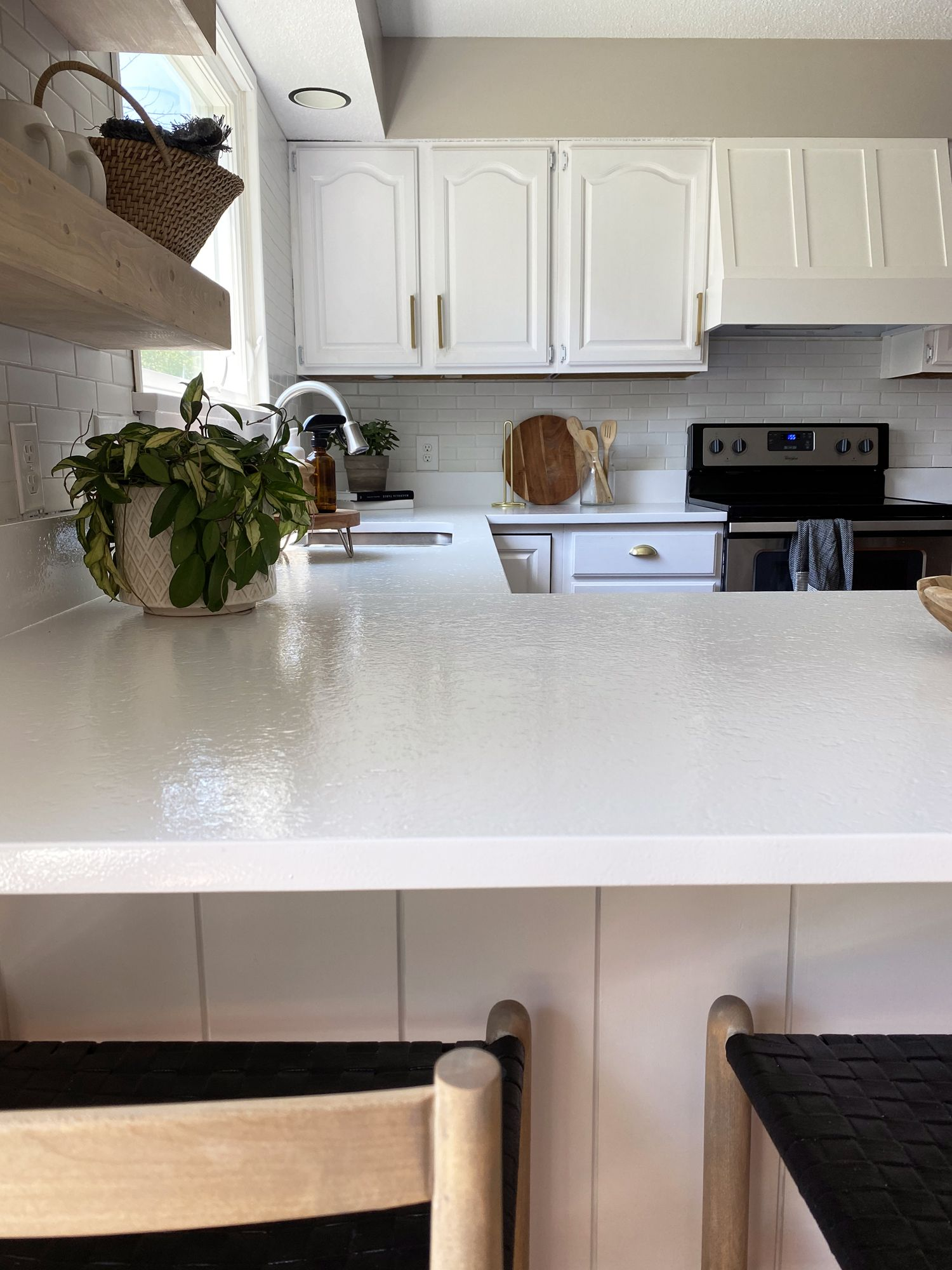 Appliance Epoxy Kitchen Counter Makeover Full Hearted Home In 2020 Countertop Makeover Kitchen Kitchen Counter
