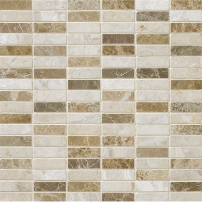 Milano Blend Polished 5 8x2 Marble Mosaics 12x12 Marble Mosaic Marble Mosaic Tiles Travertine Mosaic Tiles