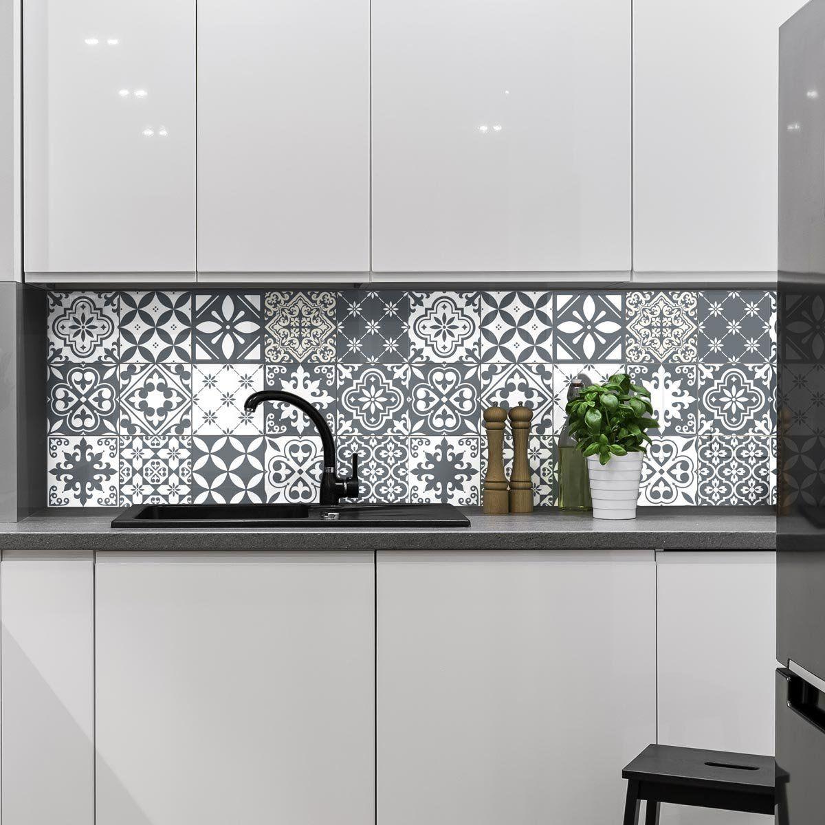 Carreaux De Ciment Adhesif Mural Azulejos 15 X 15 Cm 15 Pieces Amazon Fr Cuisine Maison Cocinas De Casa Cocinas Azulejos Azulejos