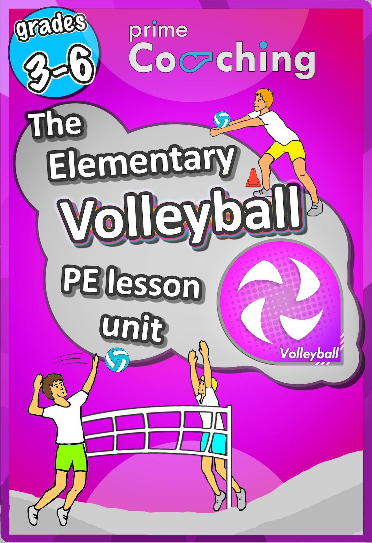Volleyball Unit Pe Sport Unit With Lesson Plans Drills Games Grades 3 6 Elementary Physical Education Pe Lessons Physical Education Lessons
