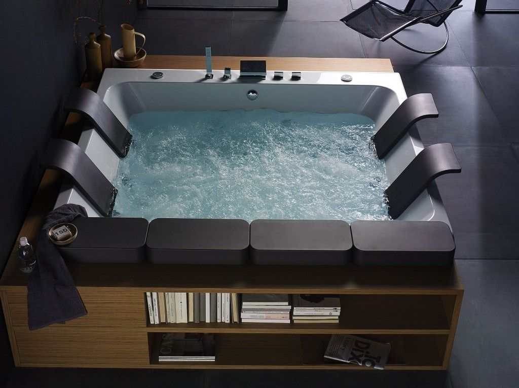Superior This Modern And Luxurious Thais Art Whirlpool Bathtub By Blubleu Will  Thrill Your Senses. This Bathtub Was Designed For Two, The Large Bathtub  Flaunts The ...