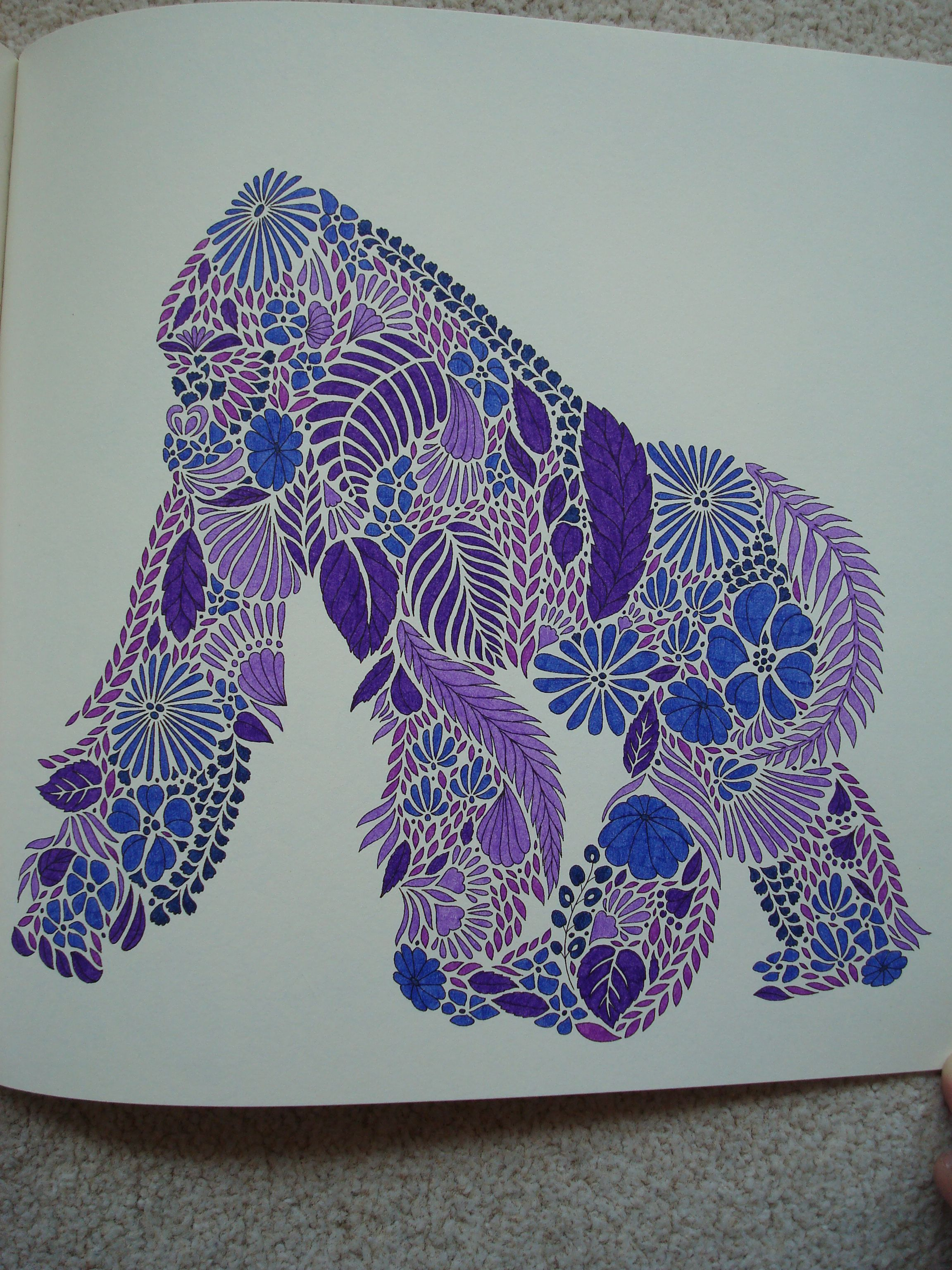 Coloring book animal kingdom - Millie Marotta S Animal Kingdom 019 Colouring In The Midst Of