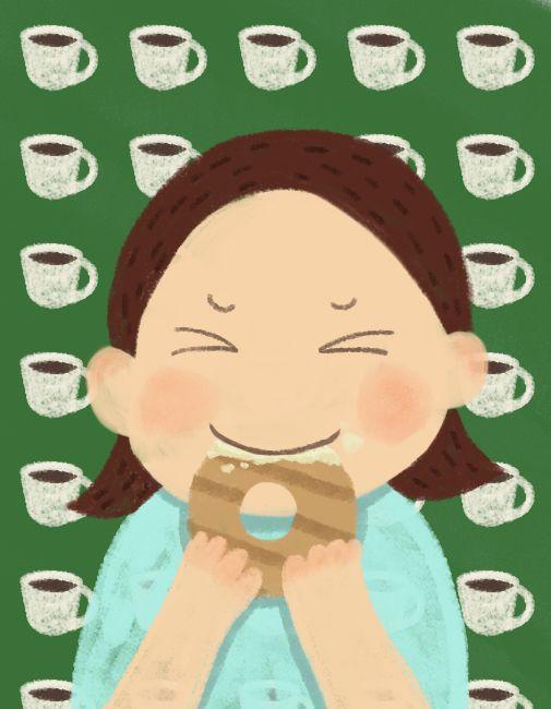 소녀 커피와 베이글