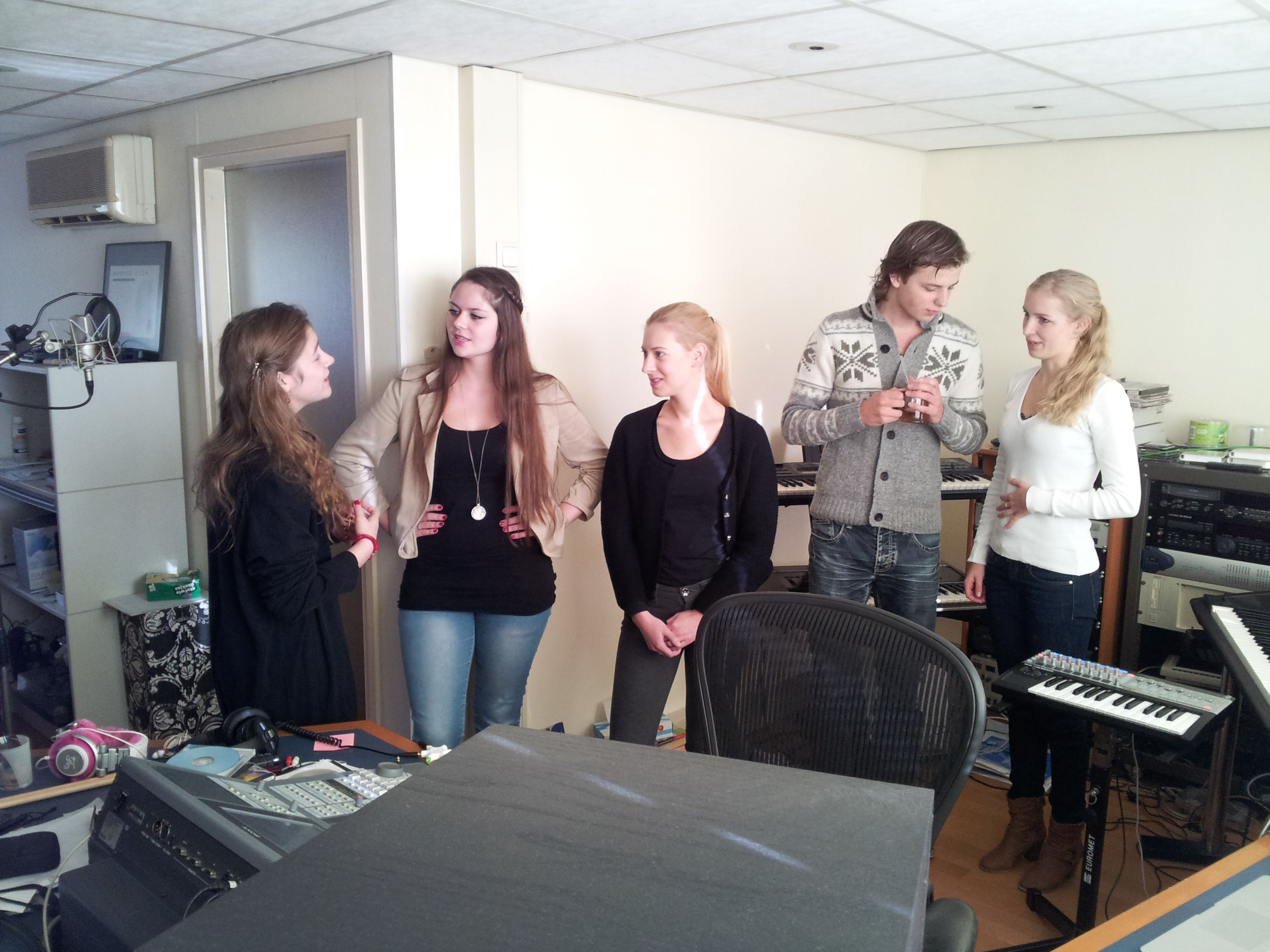Giving instructions for the #harmony #vocals. #music #group #friends #popular