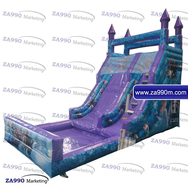 23x11 5x16ft Inflatable Frozen Bounce House With Slide & Pool With