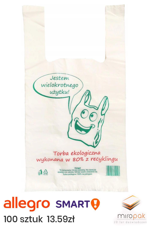Torby Foliowe Wielokrotnego Uzytku 100 Sztuk Mdpe 30x55cm Dla Sklepow Tote Bag Reusable Tote Reusable Tote Bags