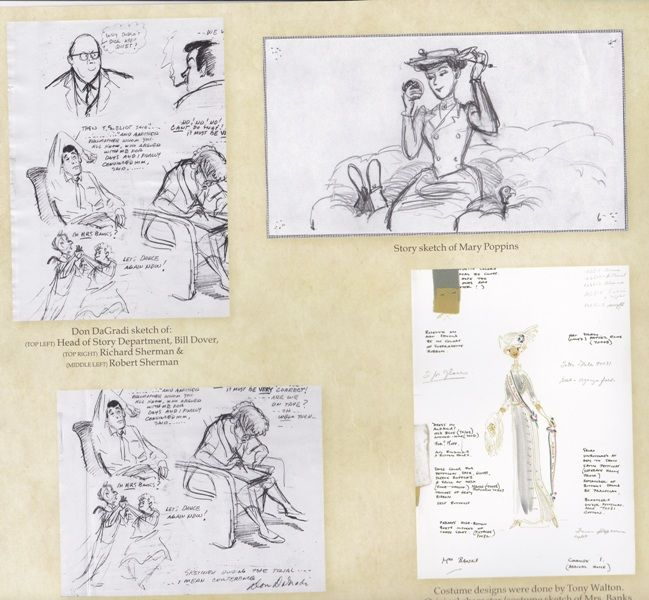 Saving Mr. Banks - rare sketches from production of Mary Poppins - Inspired By Dis
