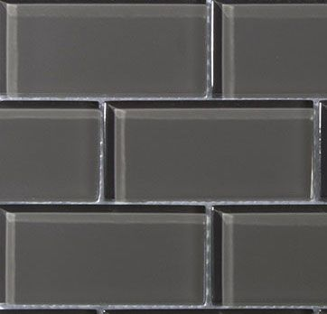 Sample Piece 6x6 Charcoal Gray Gl 2x4 Mosaic Subway