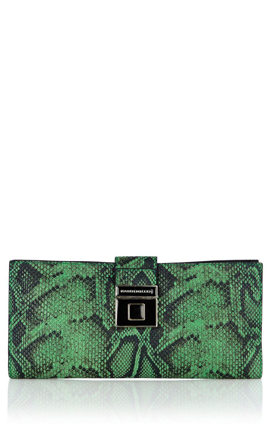 2791cf0e6a Green snake print envelope clutch. | print | Fashion, Karen millen ...