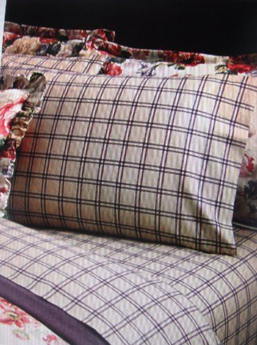 Lauren By Ralph Lauren Surrey Garden Purple and Tan Tattersall Plaid Set of Two Standard Pillowcases >>> Check out the image by visiting the affiliate link Amazon.com on image.