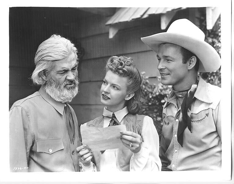 Gabby hayes dale evans roy rogers 1944 the lights of