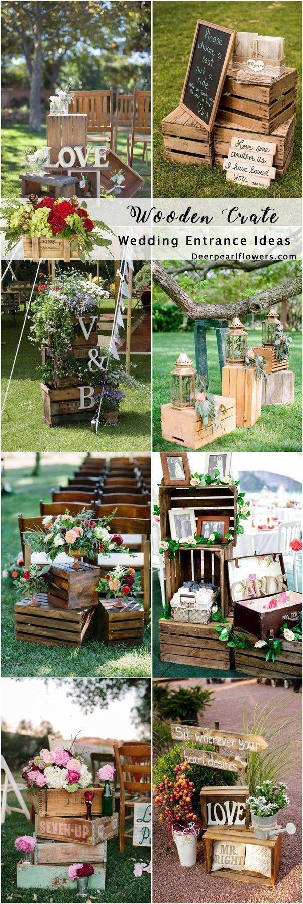 Wood wedding decoration ideas  Pin by Zoeeus Rustic Chic Wedding Ideas on Rustic Wedding