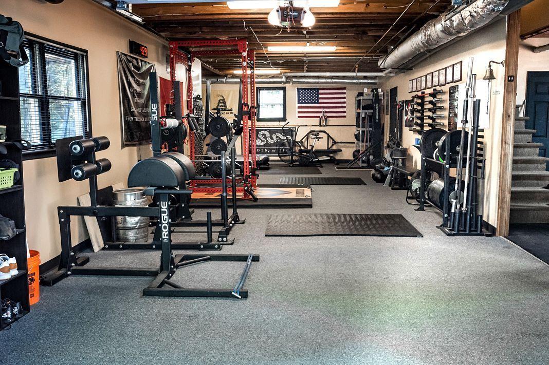 Step Into Rovefit An Unbelievable Garage Gym Garage Gym Lab Home Gym Design Gym Room At Home Home Gym Basement
