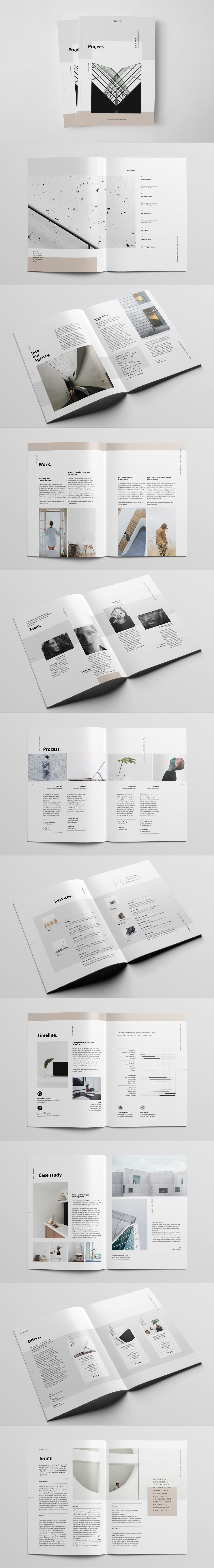 Project Proposal Brochure 22 Unique Layouts Template InDesign INDD ...