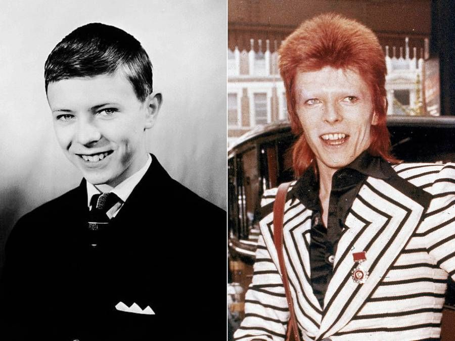 Rockstars during their Younger Days – david bowie as a kid