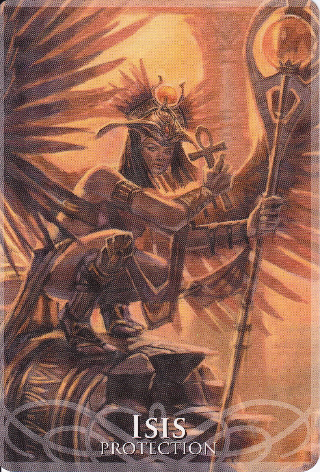 mother isis   Isis as a special guest star on the card of Osiris in Gods