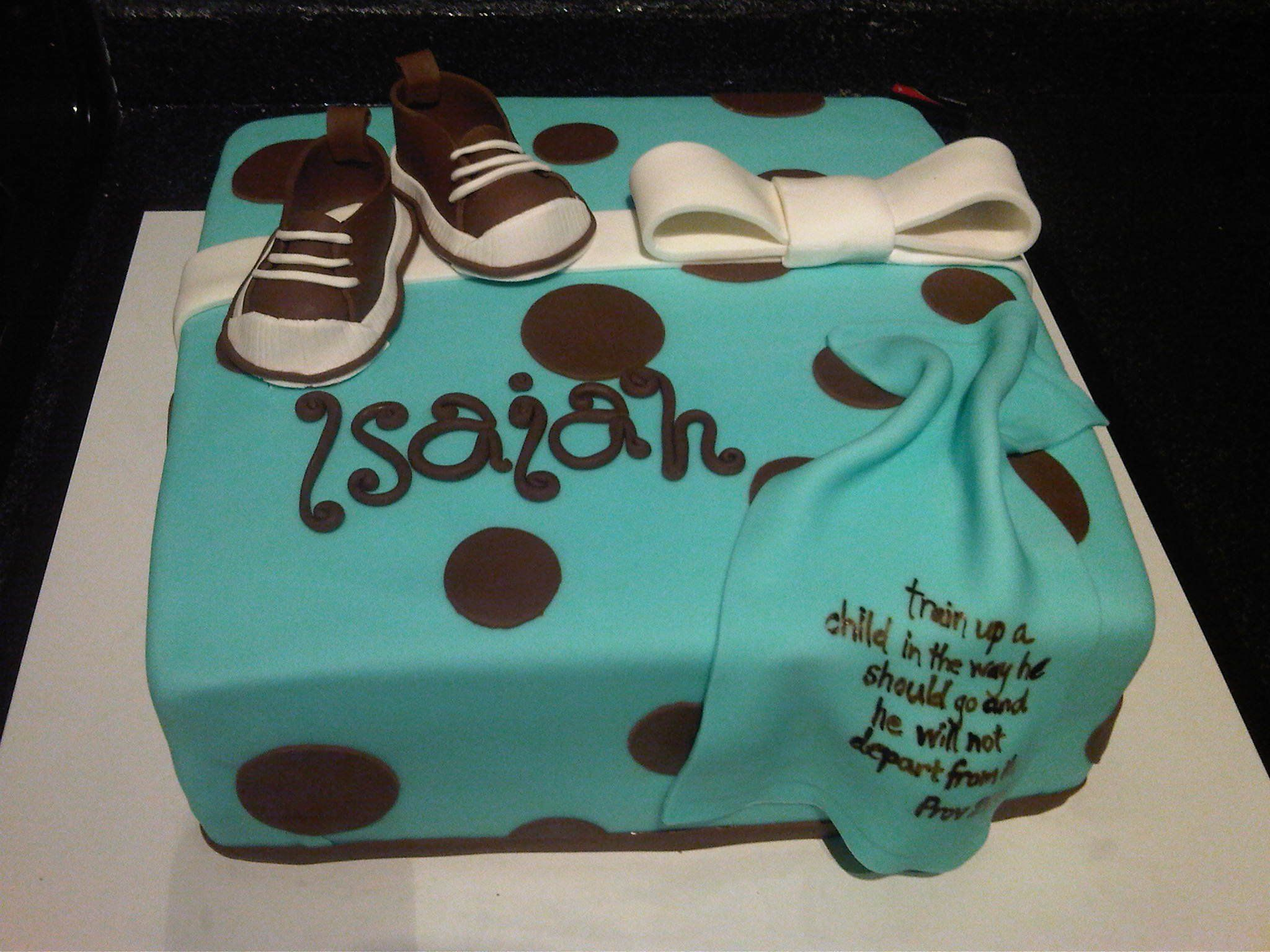 Isaiah S Baby Dedication Cake Made By The Cocoa Cakery It Tasted As Good