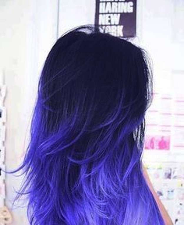 Pin By Megan Mccrum On Hair Please Hair Styles Blue Ombre Hair