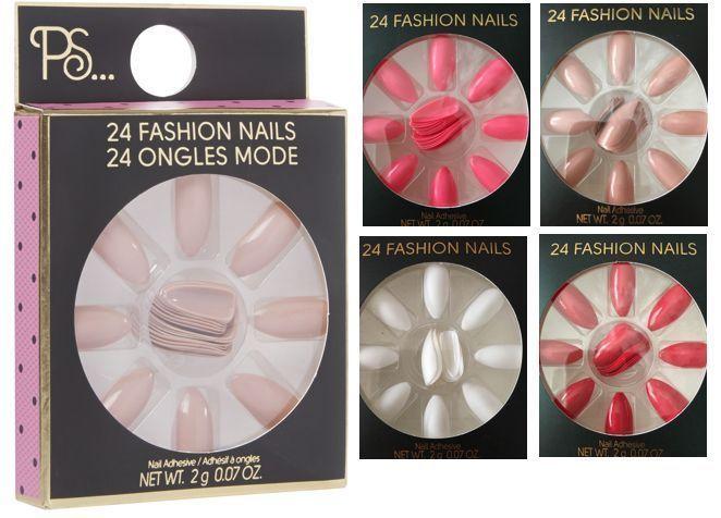 PRIMARK PS LOVE 24 False Fashion Nails NUDE STILETTO MUST HAVE 5 COLORS