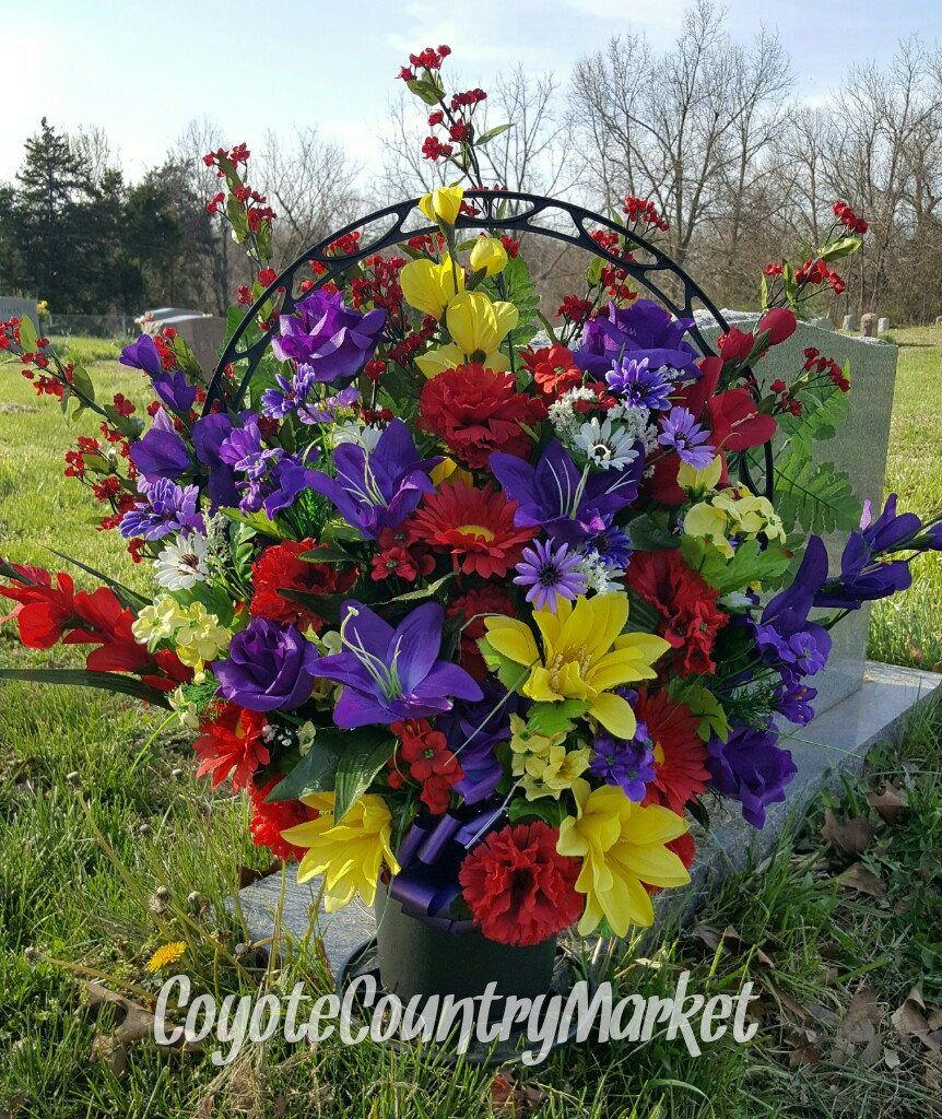 Memorial Flowers Basket Memorial Flowers Cemetery Flowers Tombstone Flowers Grave Flowers Grave Decorations Cem Memorial Flowers Cemetery Flowers Grave Flowers