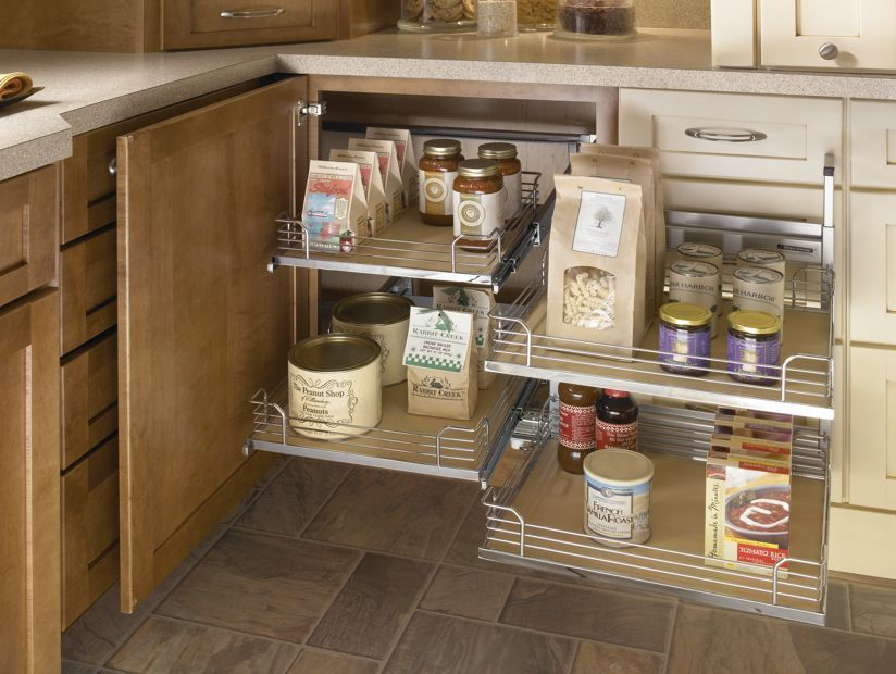 Medallion At Menards Cabinets Base Blind Corner Cabinet With Full Access Trays Corner Kitchen Cabinet Blind Corner Cabinet Corner Cabinet Solutions