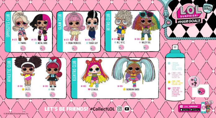 Hairgoals Lol Series 5 Makeover Series Guide Lotta Lol Lol Dolls Lol Hello Kitty