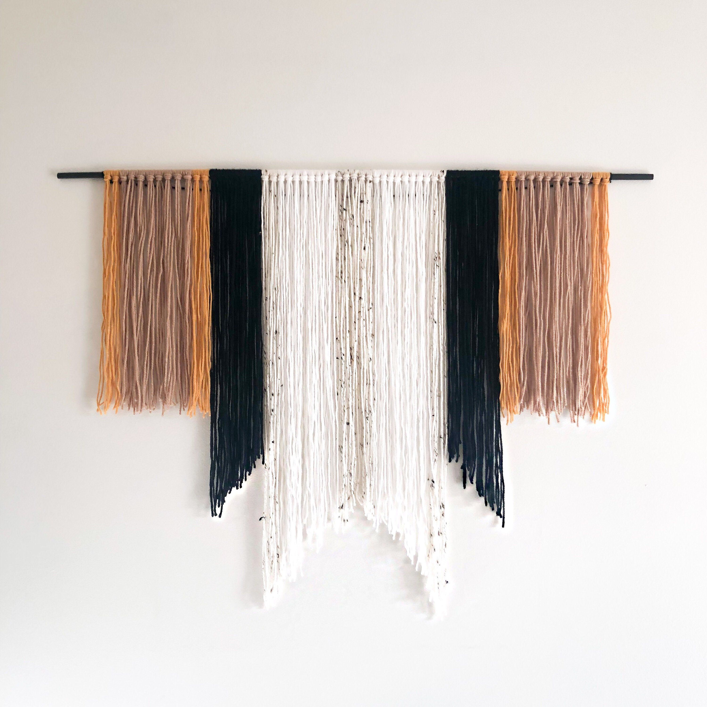 Yarn Wall Hanging – Fiber Art – Macrame