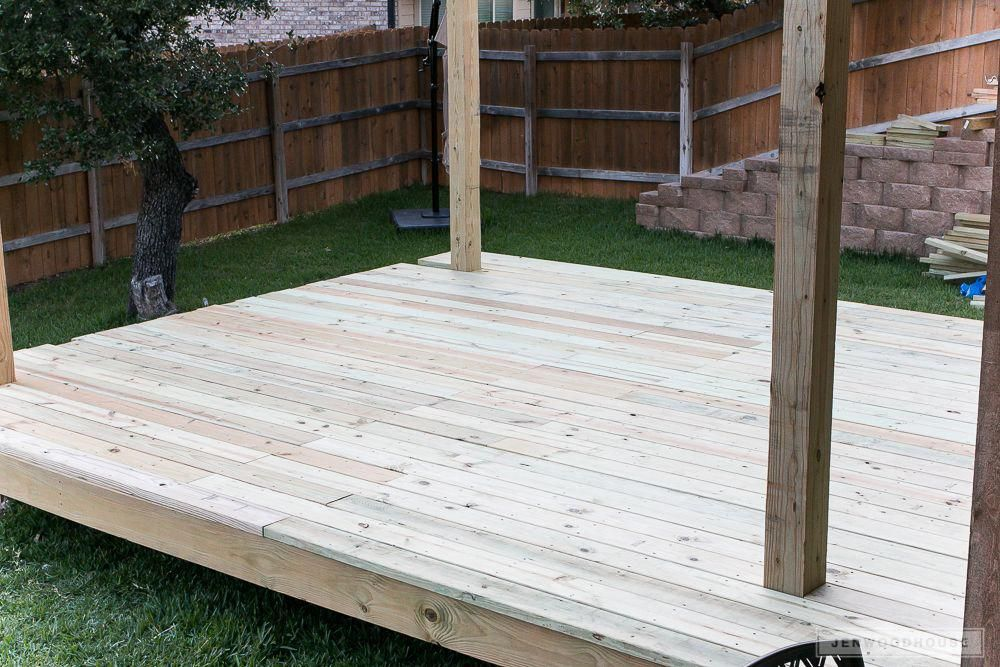 how to build a pergola on a floating deck