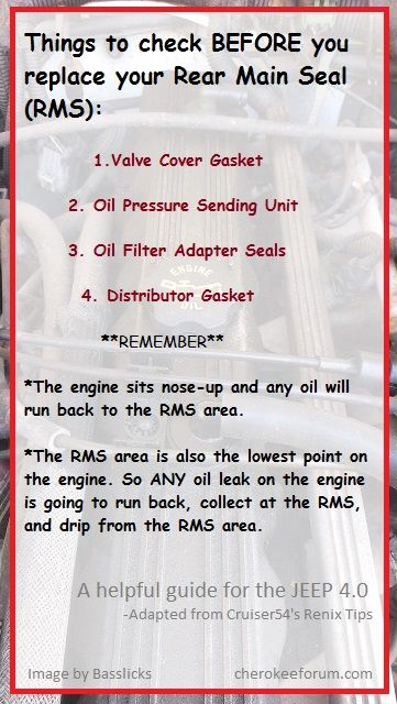 Handy Checklist Before Replacing Your Rear Main Seal 4 0 Liter