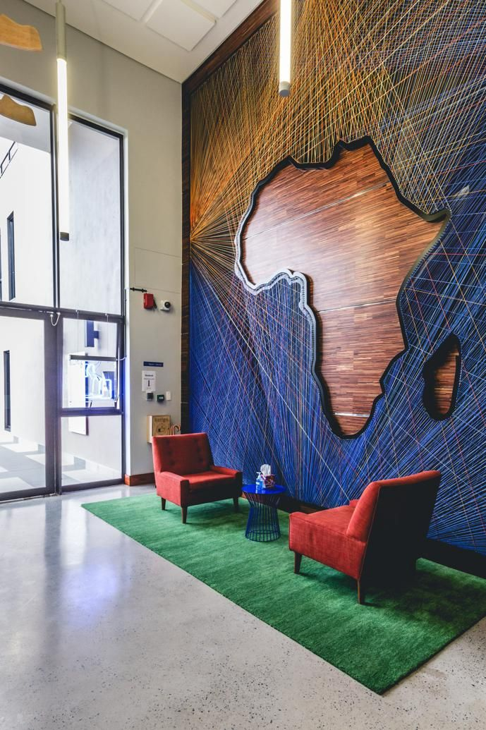 Facebook's New Johannesburg Office Space | Office interior design, Design, Office walls