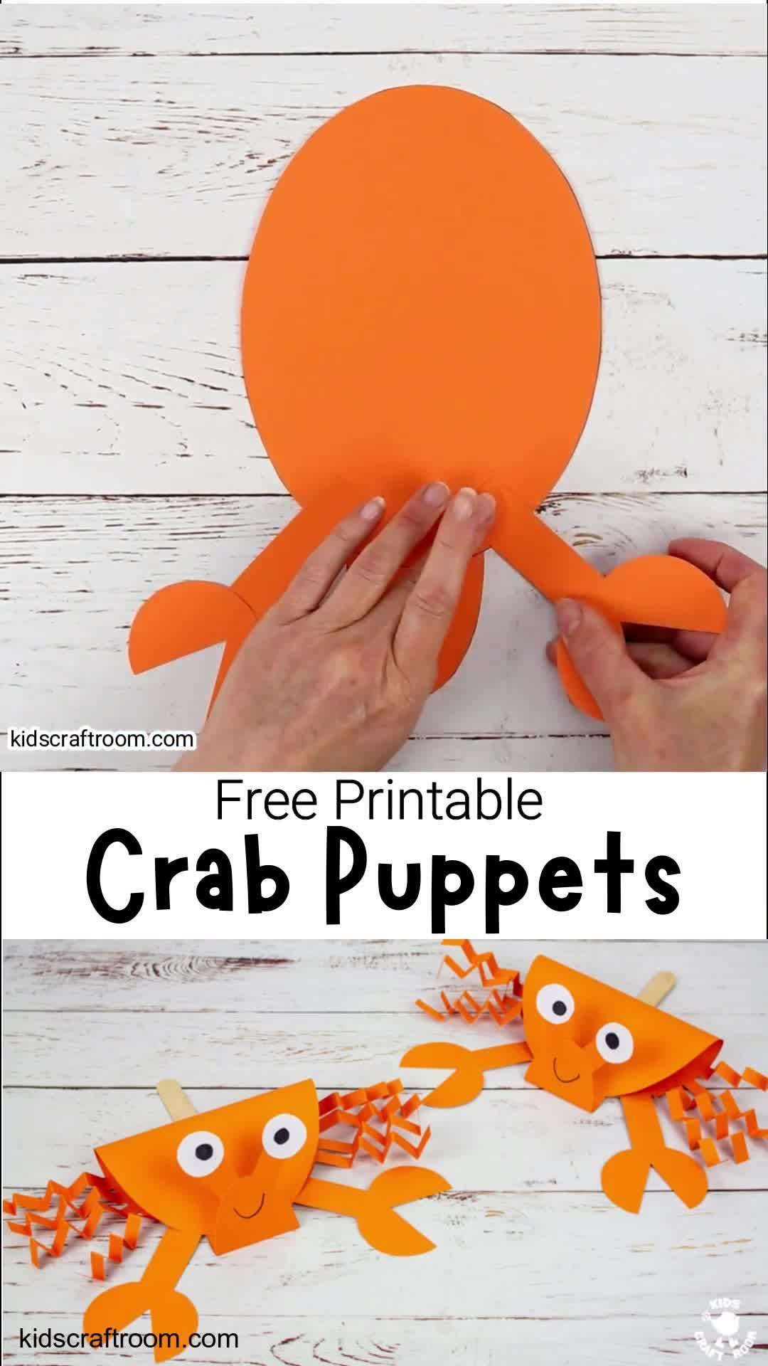 Photo of Crab Puppet Craft