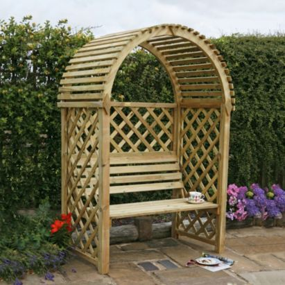 Blooma Chiltern Wooden Arbour Home Delivered With Assembly